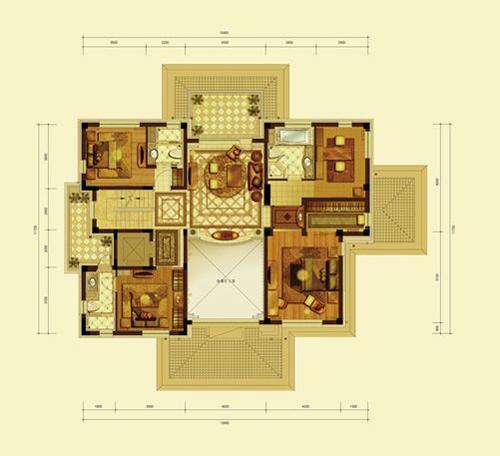 亿城燕西华府小独栋(五室六厅八卫约590平米)二层3室3卫159.92�O