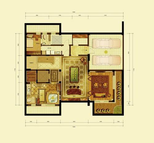 亿城燕西华府小独栋(五室六厅八卫约590平米)负一层1室1厅2卫