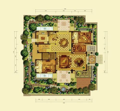 亿城燕西华府小独栋(五室六厅八卫约590平米)首层1室2厅2卫1厨182.44�O
