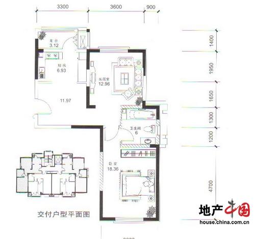洛卡小镇国际公寓H2户型图