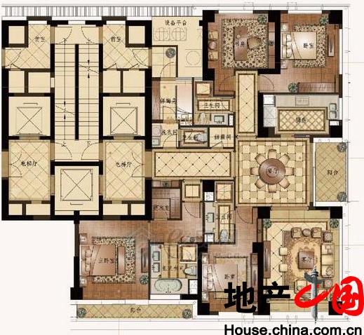 C户型259�O 4室2厅4卫