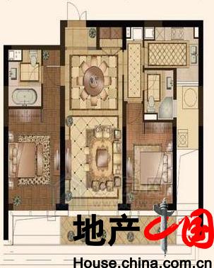 H户型115�O 3房2厅2卫