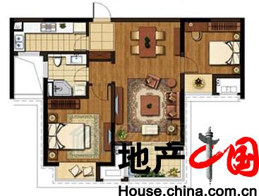 90m²2室2厅1卫