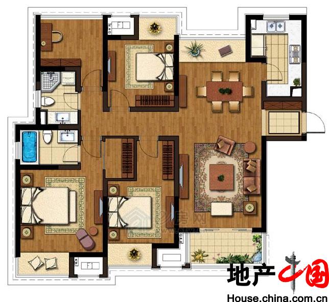 140m²3+1房2厅2卫