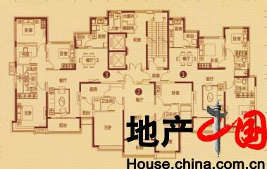 恒大绿洲户型图:4号楼 二单元