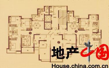 恒大绿洲户型图:6号楼 一单元