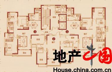 恒大绿洲户型图:5号楼 一单元