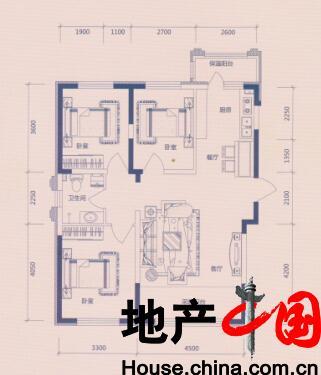 欣凤学城户型图:F1户型多层