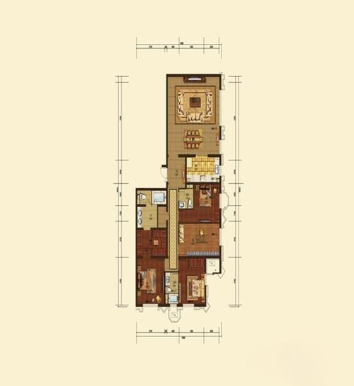 D户型 4室2厅2卫
