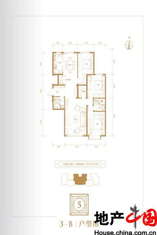 5号楼3-B户型图