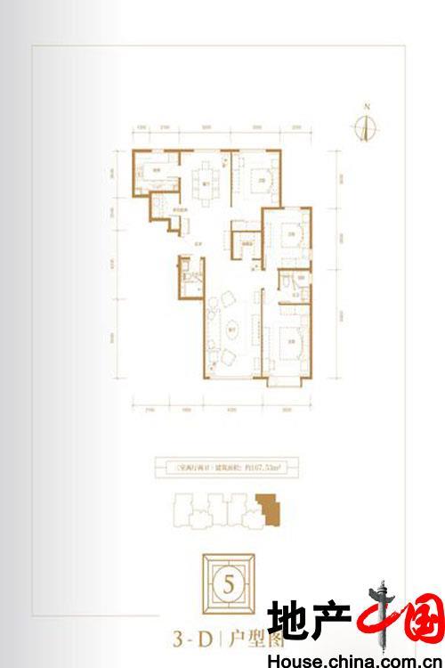 5号楼3-D户型图
