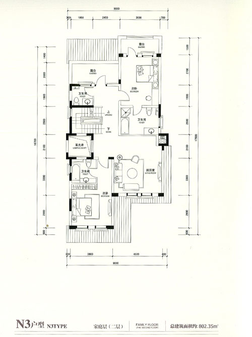 N3户型 5室3厅3卫