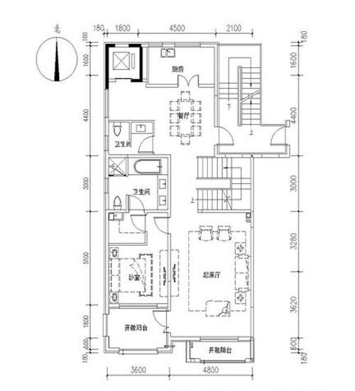 一期C0102户型 1室2厅2卫