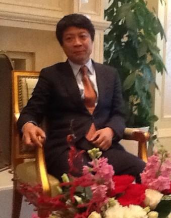 孙宏斌在沪接受媒体专访
