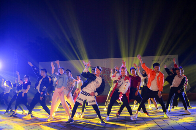舞蹈背景素材荧光系
