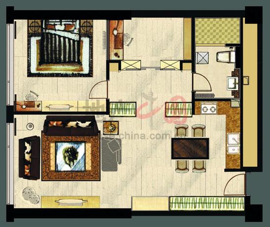 一室设计图平面图