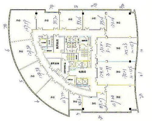 常德市白鹤山考场平面图