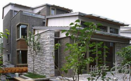 别墅院墙瓷砖效果图