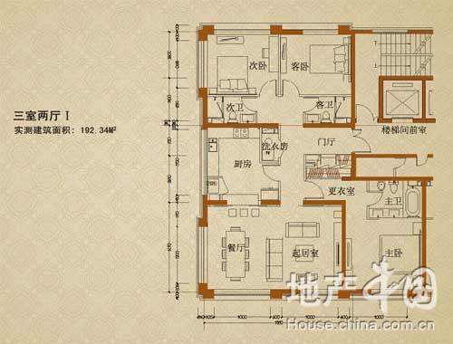 阳光上东三室两厅户型图