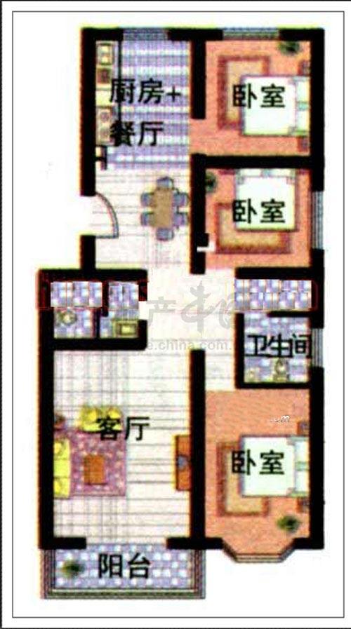一百平方米房子设计图展示