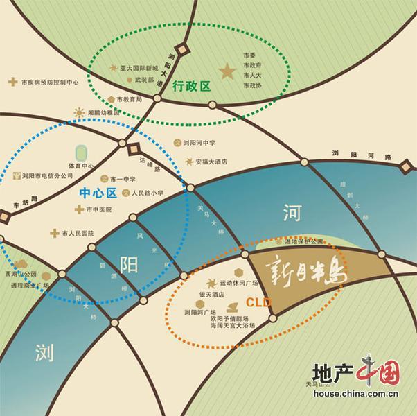 新月半岛交通图-长沙新房-地产中国网