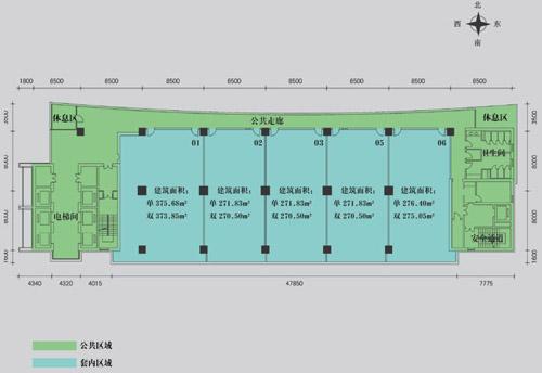 商场商铺装修电路平面图