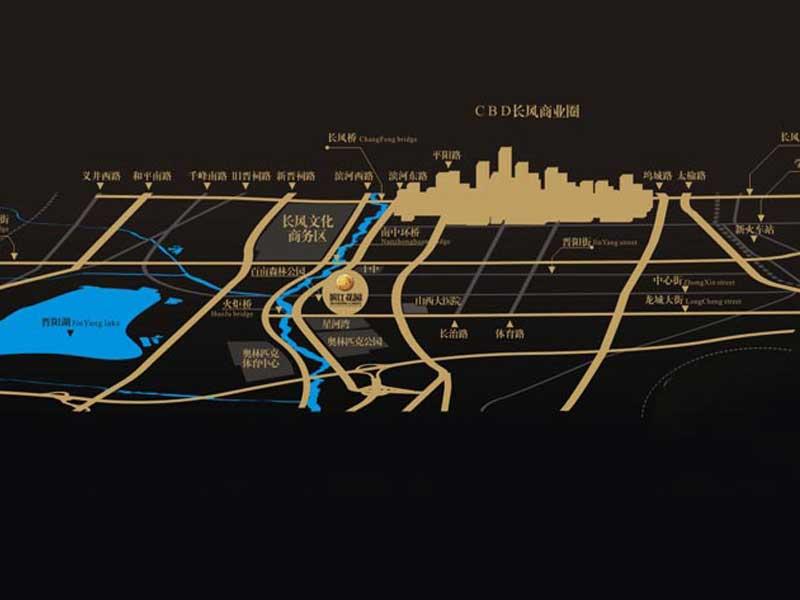 太原/滨江花园交通图