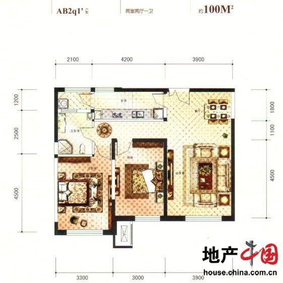 100平米两室两厅