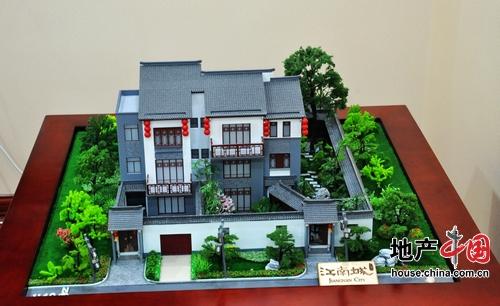 宝安江南城四联排别墅模型