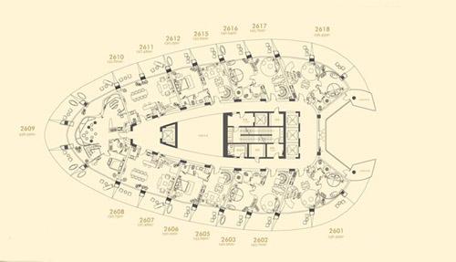 凤凰岛二十六层平面图15室15厅15卫2346.83㎡