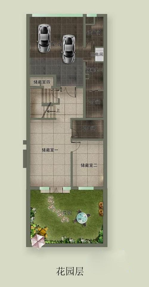 誉天下二期誉皇殿连城花园大宅别墅花园层户型图6室2厅5卫1厨