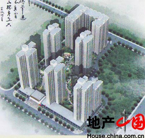 郑州得亿时代城小区结构分析图