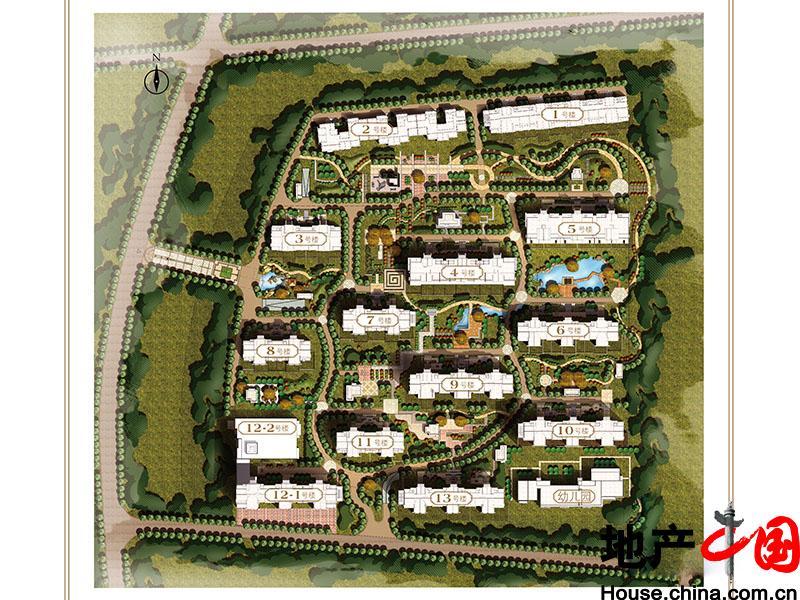 怡园手绘平面图