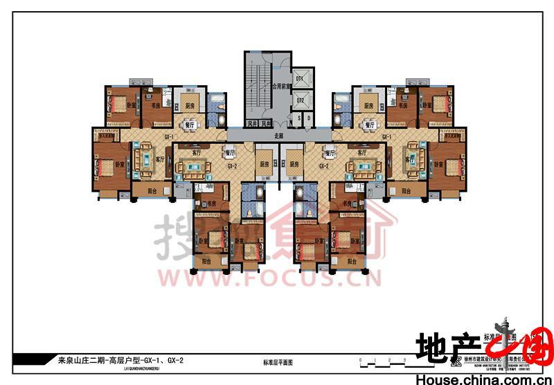 规划结构:一轴 周围紧靠三大医院
