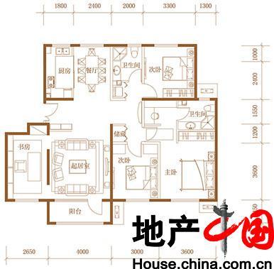 中弘由山由谷四室两厅二卫约140平
