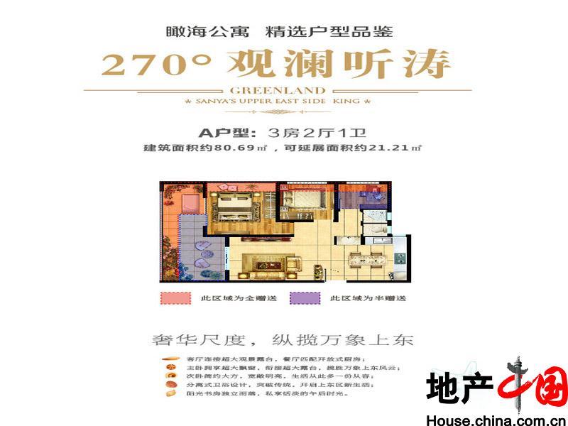 绿地·悦澜湾(三亚)户型图-度假房产新房-地产中国网