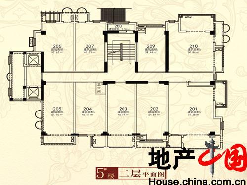 卢卡新天地一期5号楼二层平面图户型10室1卫 472.70㎡