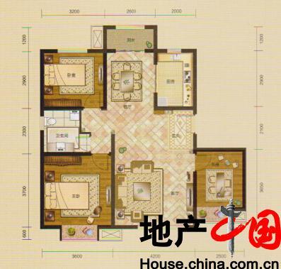 大庆绿地国际城户型图:g1户型