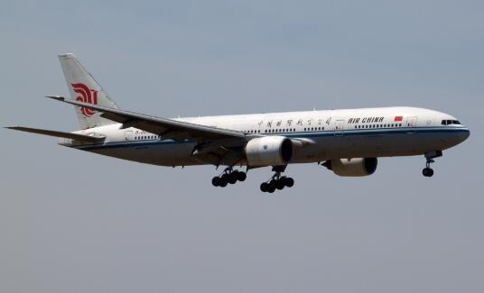 波音777宽体客机首次执飞贵阳航班