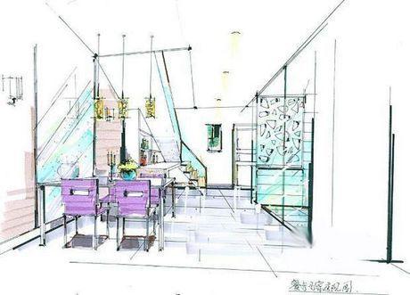 再来张餐厅的手绘设计图.