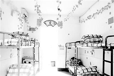 学校寝室简笔画