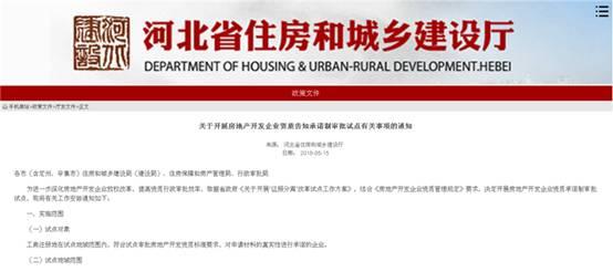6月1日起河北省开展房地产开发企业资质告知承诺制审批试点-中国网地产