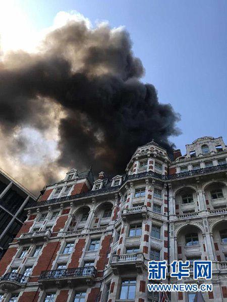 伦敦海德公园附近的12层文华东方酒店发生火灾-中国网地产