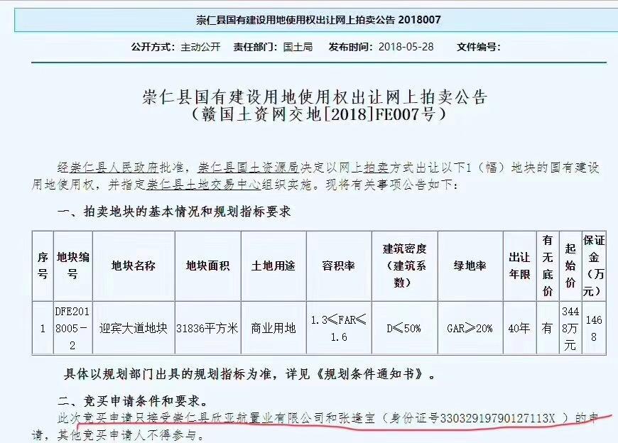 崇仁县挂牌一宗商业用地 并指定摘牌公司和个人-中国网地产