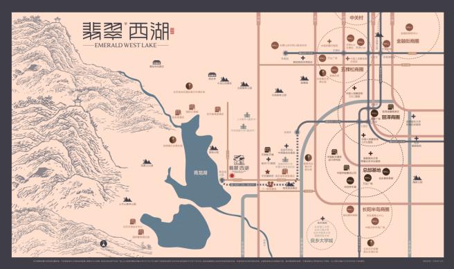 天然的豪宅基因,板块的发展规划以及立体交通的布局,在北京,唯有青龙