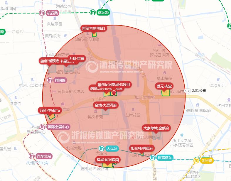 融创48.6亿元包揽浙江杭州运河新城两宗宅地-中国网地产