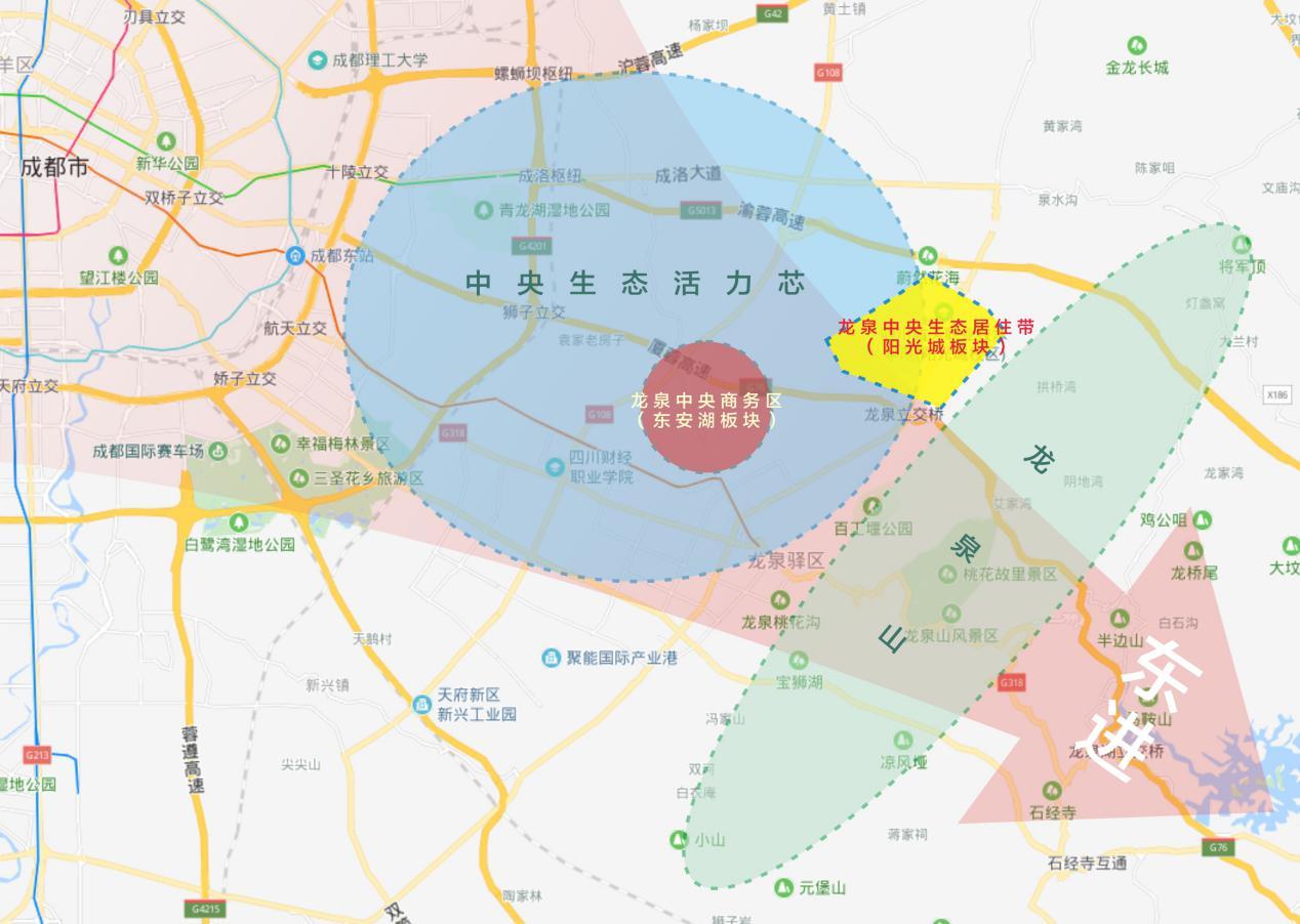 当天府新区向东转向90度: 原来下一个锦江生态带与秦皇寺商务区就在这里!-中国网地产
