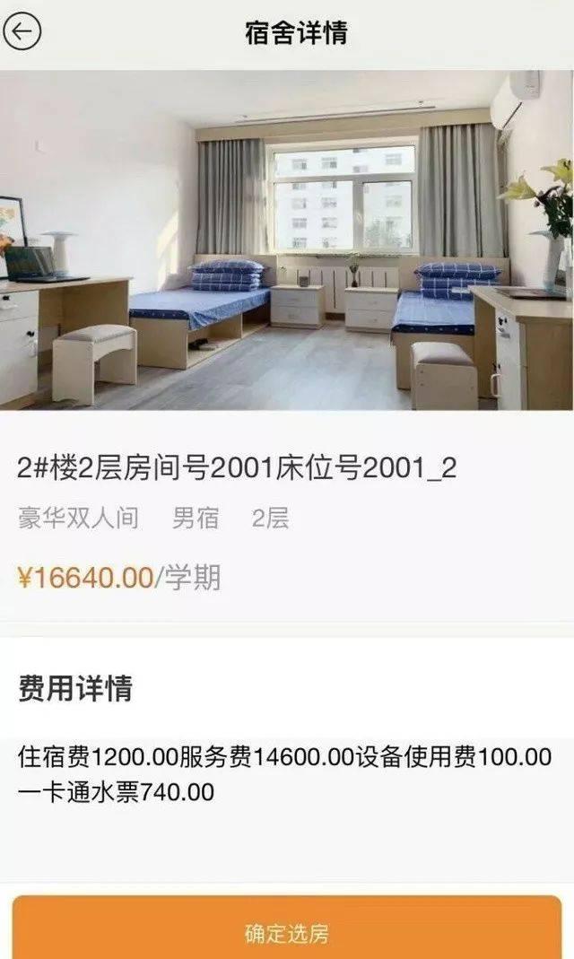 天价宿舍内部曝光 一个二人间,一年16640元-中国网地产