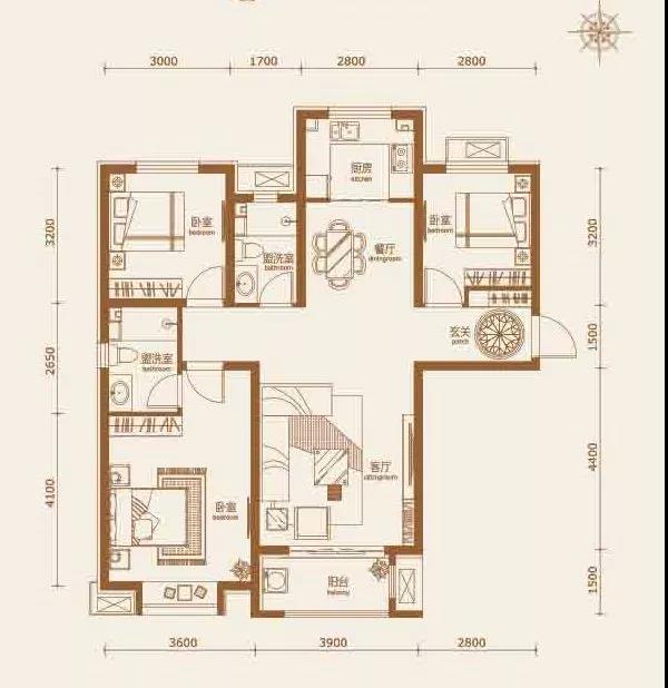 天河明郡舒适三居|承载三代同堂的幸福生活-中国网地产