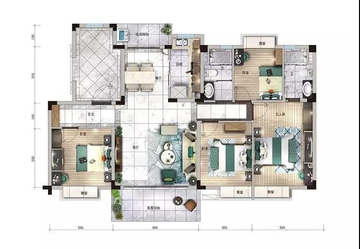 【碧桂园·云著名邸好户型】每个卧室都带飘窗 到底有多难得-中国网地产